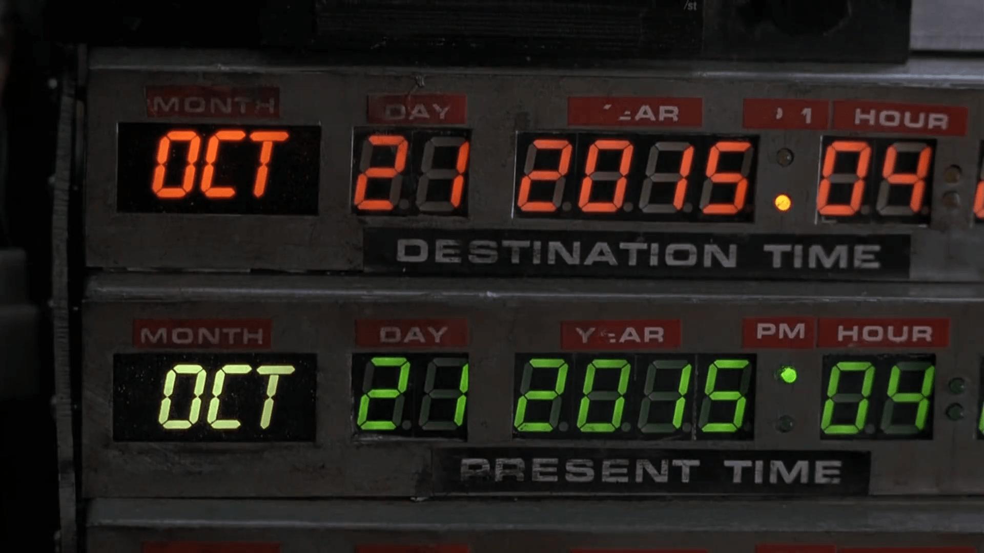 ritorno al futuro data