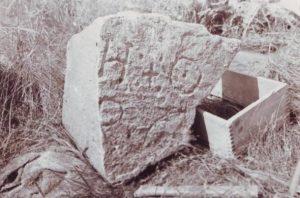 La pietra ritrovata nel 1936
