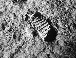 impronta sulla luna